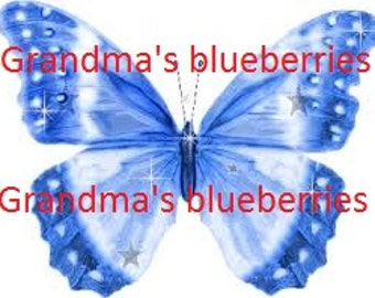 Edible Blue Butterfly Wedding Cake Toppers - Cake Decorations / Cupcake Topper Set of 15