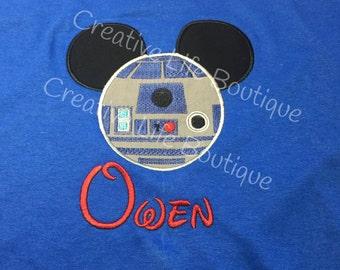 Disney - R2D2 starwars Shirt - Personalized - Adult
