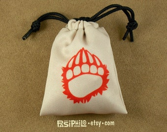 Barbarian Fantasy RPG Mini Drawstring Dice Pouch, Colour Symbol