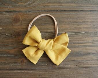 Big Big Mustard Yellow (headband or clip)