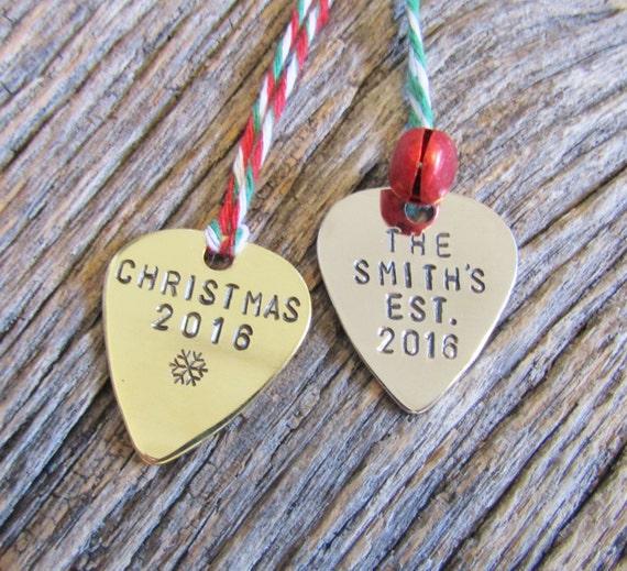 Music Christmas Ornament Guitar Pick Ornament Guitar Christmas
