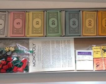 Vintage 1974 Monopoly Game
