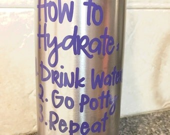 How To Hydrate Vinyl Decal, Funny Vinyl Decal, How To Hydrate Water Bottle Decal, How To Hydrate Tumbler Decal