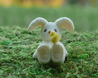 Bunny Rabbit for Easter and Spring Fairy Garden Accessory