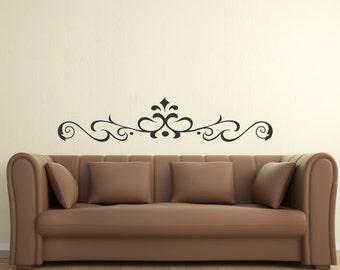 Scroll Embellishment 10 ... Vinyl Wall Decal Art Deco