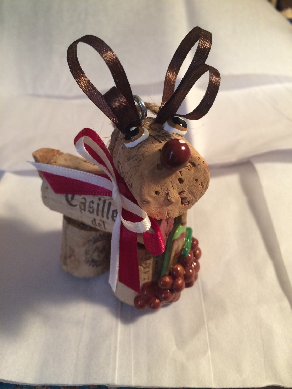 2017 Rustic Wine cork craft holiday Christmas bottle toting