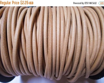 SALE 4ft High Quality 3mm Natural Leather Cord,