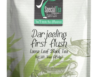 16 oz. Darjeeling First Flush Black Loose Tea with Free Tea Infuser