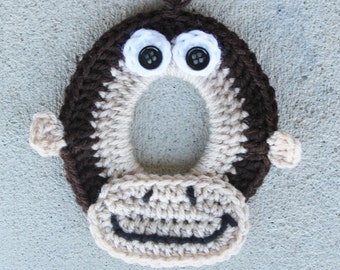 Monkey Crochet Camera Lens Buddy