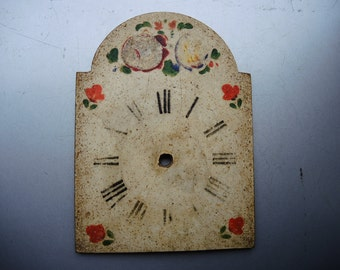 Antique Wag on wall clock parts - wooden case parts - Featured - altered art - Steampunk supplies - clock dials - Steampunk - clock face /