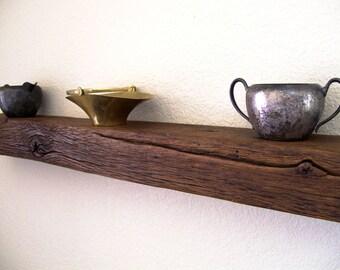 Rustic Floating Shelf Barnwood Floating Shelf Solid Oak Reclaimed Wood Shelf Wall Shelf