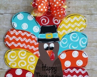 Turkey door decoration door hanger fall decoration wreath