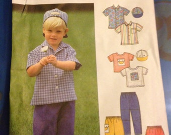 UNCUT 5171 Simplicity Pattern Easy Boys Clothes 2 3 4