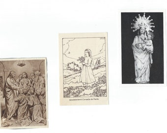 Vintage Catholic Holy Cards - Religious Cards with prayer - P10