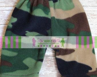 Custom Boy or Girl Green CAMO Fleece Newborn Infant Baby Pants