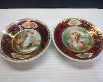 Two Royal Vienna Behive Cherubs, Angels Bowls