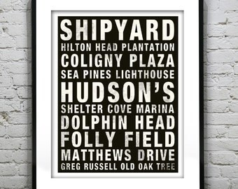 Hilton Head Subway Poster South Carolina Art Print SC
