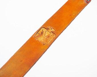 Southwestern Thunderbird Leather Bookmark