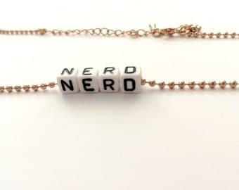NERD cube necklace