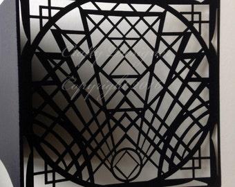 Art Deco Bespoke Laser Cut Design Invitation Code: CD017 X 30 Units