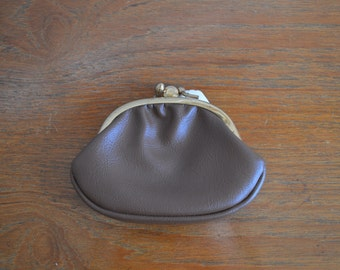 1960s Brown Coin Purse