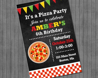 FLASH Pizza Party Invitations