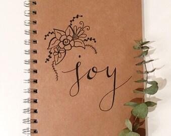 A5 Kraft Calligraphy Design Notebook