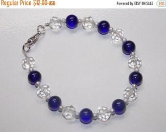 25%OFF Cobalt Blue and Crystal Bracelet