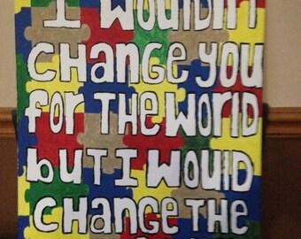 Autism Awareness Painting