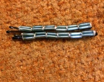 Beaded hair pins