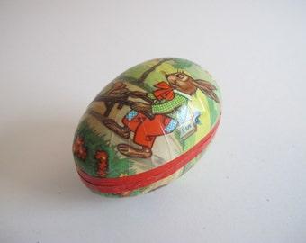 Vintage Cardboard Two Piece German Easter Egg