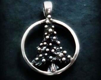 Christmas Tree Angel Pendant - Handmade in 14k Gold or Sterling Silver