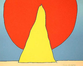 Peter Max Closer to God closer and very rare vintage framed serigraph 1970's reduce price over 9500 dollars wow be first