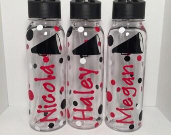 Personalized Cheerleading Water Bottles