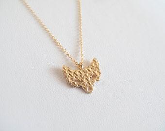 Gold Fox Necklace -  Everyday Jewelry