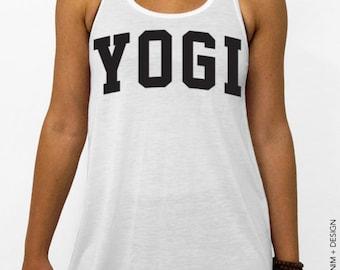 Yogi - White Flowy Racerback Tank Top