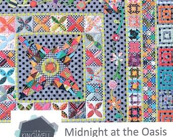 "Jen Kingwell Midnight at the Oasis Modern Quilt Pattern 60"" x 60"""