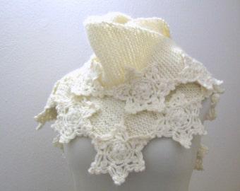 Cowl  capelet - Shrug - scarf - Stole - Wrap -Shawl -crochet poncho- scarves collar -bolero