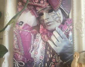Carnival of Venice Mask, Original Wall Art, 3D Wall Decor, Venetian Mask Masquerade, Venetian Carnival Mask, 3D Home Decor, Original Mask