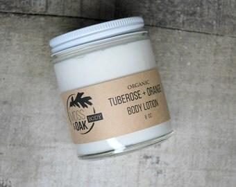 Tuberose + Orange Organic Body Lotion  7 oz