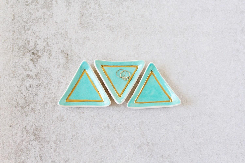 Triangle Ring Dish - Mint