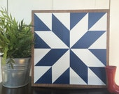 LUCKY – 11 x 11 inch Wood Barn Quilt - Hand-Painted Wooden Sign