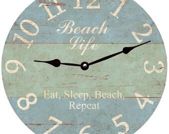 Beach Life Clock
