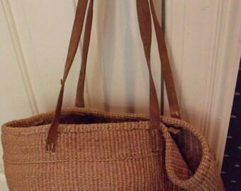 Sisal or Jute Vintage Shoulder Bag/Sack