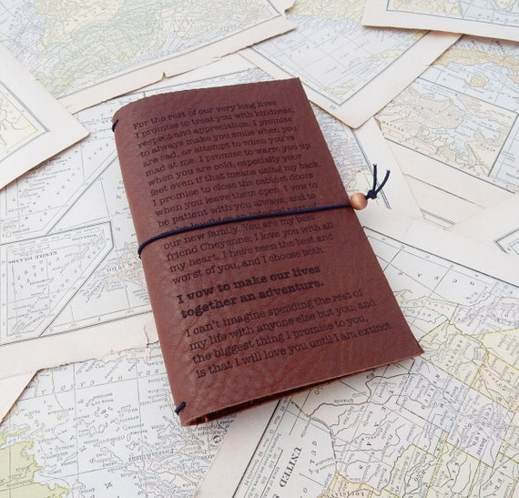 9th Wedding Anniversary Gift Leather: 9th Anniversary Gift Idea Personalized Leather Journal
