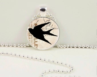 Vintage Sparrow Pendant