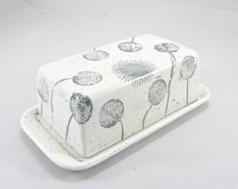 Butter Dish  Covered Butter Dish Food safe Lead Free GLaze