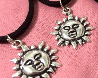Sun Face Cord Necklace