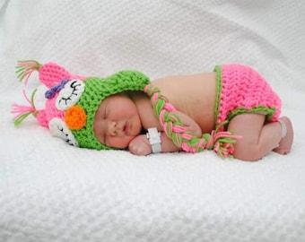 Girly Sleepy Owl Crochet Set