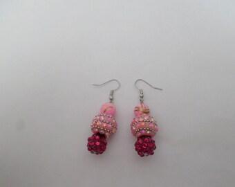 Pink rhapsody earrings